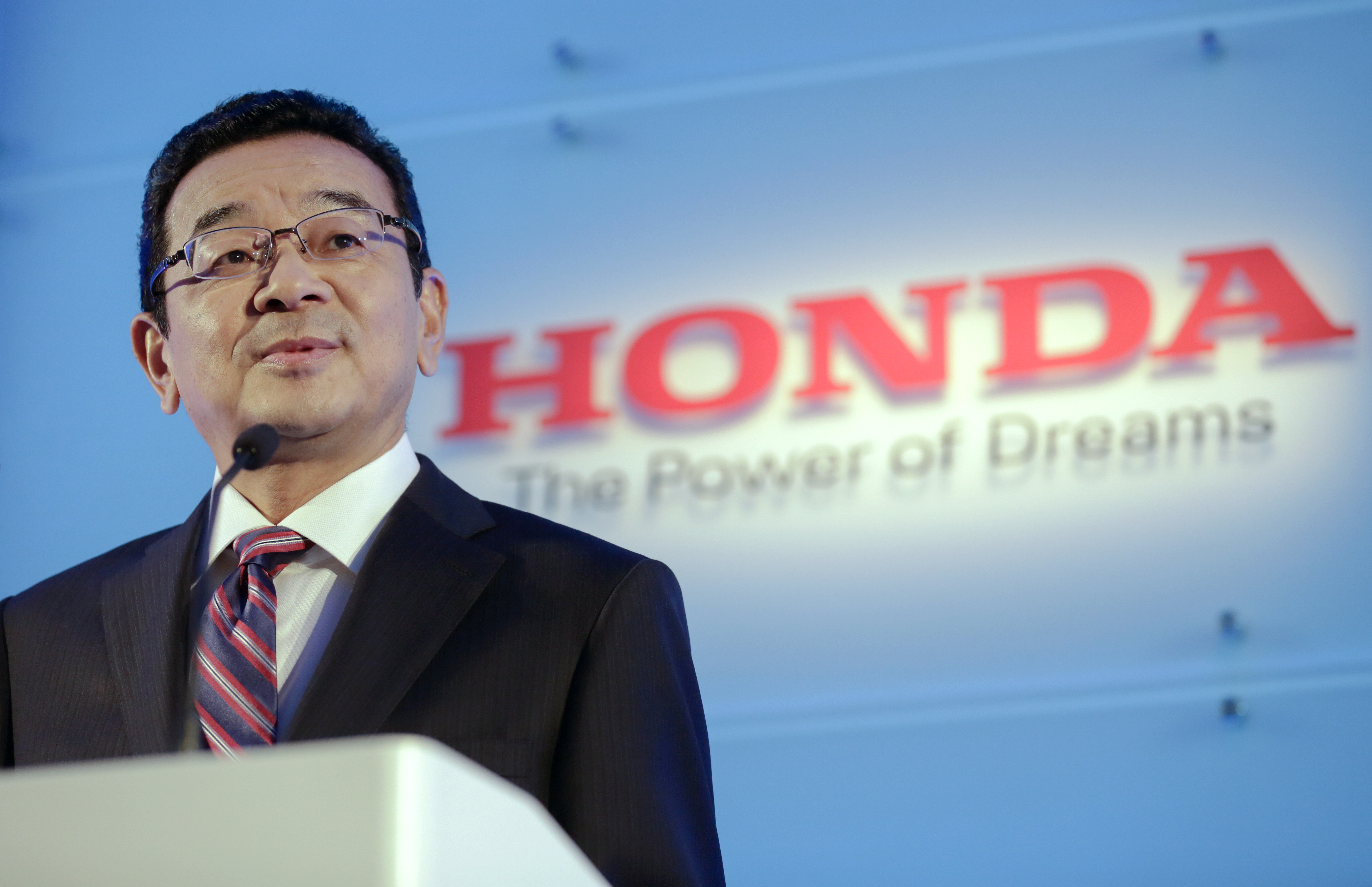 Honda Motor Co President And Chief Executive Officer CEO Takahiro Hachigo Speaks During A News Conference At Its Headquarters In Tokyo Japan