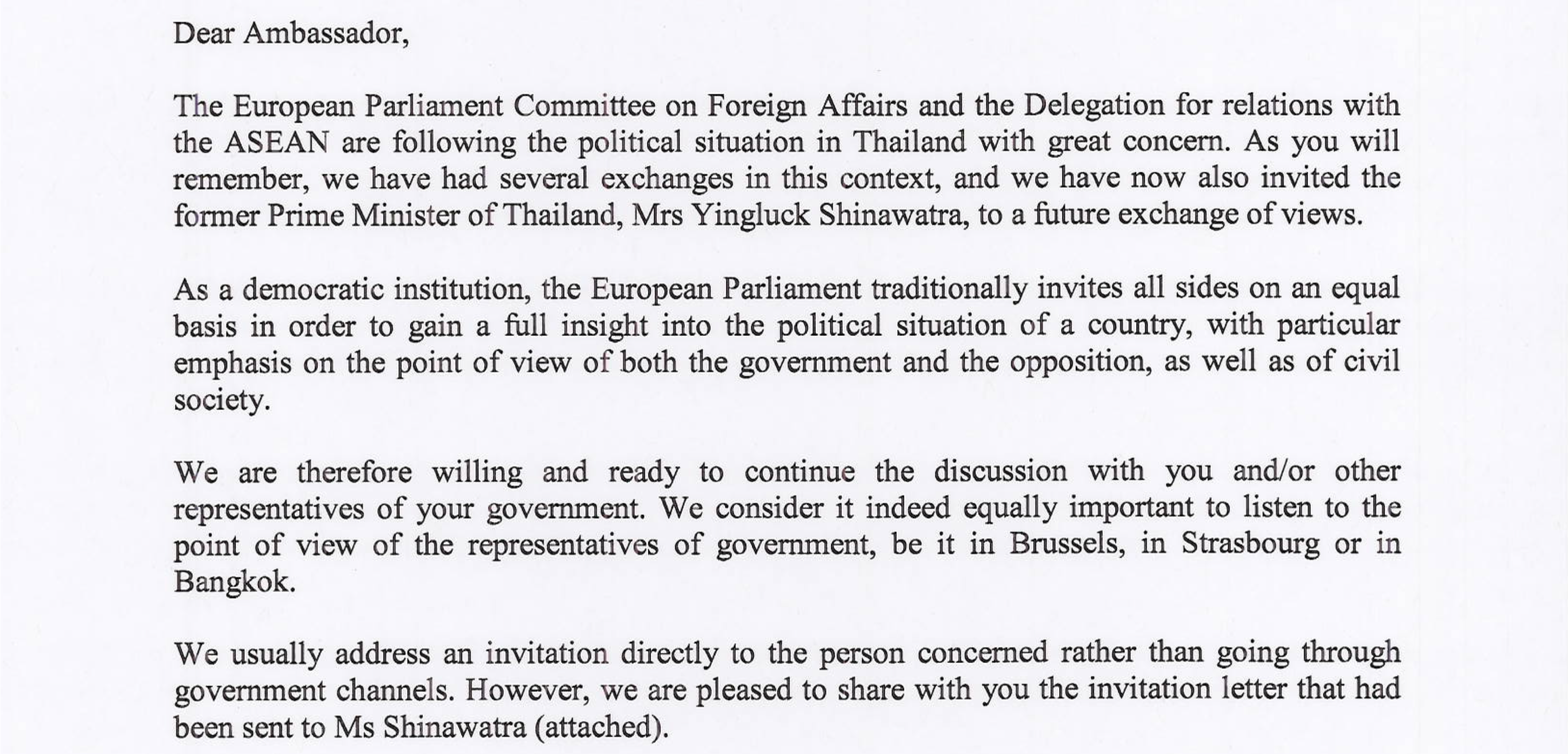 Thai junta prevents yingluck shinawatra from eu parliament address click for full view stopboris Choice Image