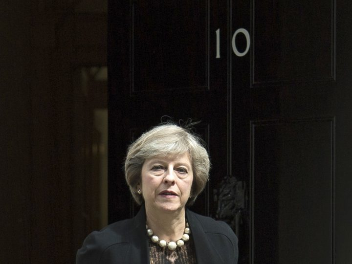 epa05408697 British Home Secretary Theresa May leaves No10 Downing Street after attending a Cabinet Meeting in London, Britain, 05 July 2016. May is one of the candidates for Conservative party leadership to succeed David Cameron. Tory MPs have started voting on the party's leadership.  EPA/WILL OLIVER