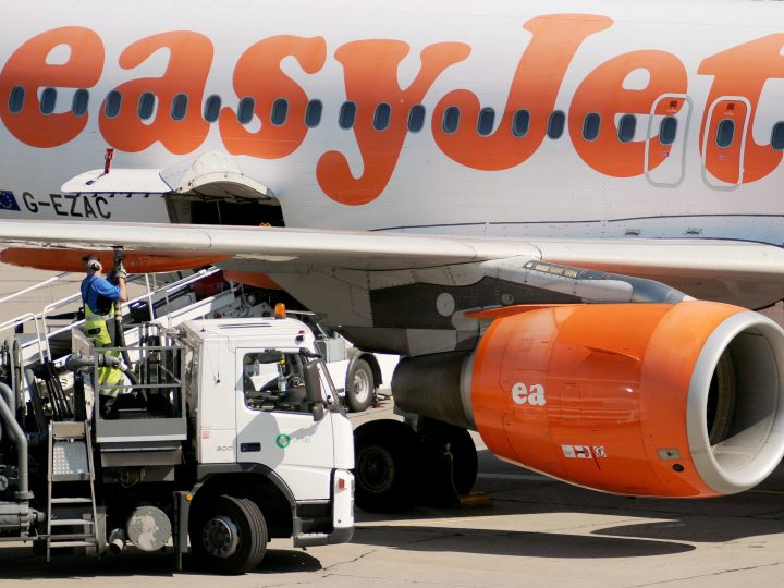 epa05401382 (FILE) A file photo dated 27 June 2011 showing an airplane from the British airline easyJet refuelling at Berlin-Schoenefeld Airport in Schoenefeld, Germany. Media reports on 01 July 2016 state easyJet has confirmed it is in a formal process to acquire an AOC, air operator certificate in an European nation to be able to continue to fy across Europe, should UK leave EU. The process was initiated prior to the Brexit referendum in the UK.  EPA/HANNIBAL HANSCHKE