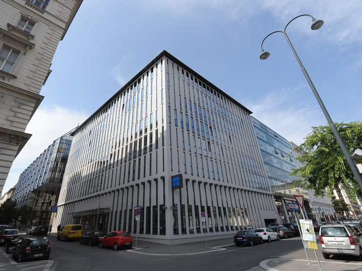 epa05152583 (FILE) A file photo dated 13 September 2010 showing an exterior view of the headquarters of the Organization of Petroleum Exporting Countries (OPEC) in Vienna, Austria. The Organization of the Petroleum Exporting Countries (OPEC) increased its total oil production by 131,000 barrels per day (bpd) in January even though oversupply has been a major reason for falling oil prices, according to data issued by the cartel on 10 February 2016. The Vienna-based group of mostly Arab, African and Latin American countries said that they pumped 32.3 million bpd last month. This was 1.8 million bpd above the projected average demand for OPEC oil in the first quarter, the group's monthly oil market report showed. Saudi Arabia and other Arab members of OPEC have so far stopped the group from propping up prices by lowering output, in an apparent effort to use the current slump to win market shares from the US, where oil production is costlier than in the Gulf.  EPA/HELMUT FOHRINGER AUSTRIA OUT