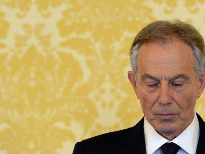 epa05410872 Former British prime minister Tony Blair speaks during a press conference in response to the Chilcot Iraqi Inquiry, at the Admiralty House, London, Britain, 06 July 2016. Tony Blair said: 'I express more sorrow, regret and apology than you may ever know or can believe'. Mr Blair said that the report contained 'serious criticisms' but showed that 'there were no lies, Parliament and the Cabinet were not misled, there was no secret commitment to war, intelligence was not falsified and the decision was made in good faith'. The Chilcot Inquiry, chaired by Sir John Chilcot, examines the circumstances surrounding the British Governments involvement in the 2003 Iraq War.  EPA/STEFAN ROUSSEAU / POOL UK AND IRELAND OUT