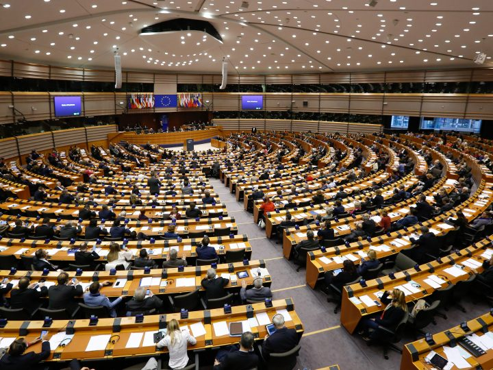 epa05279832 A general view for the plenary session at the European Parliament in Brussels, Belgium, 27 April 2016.  The European Parliament is holding plenary session in Brussels between 27 and 28 April. Different topics are on the agenda of debate during the sessions, including the implementation of the EU-Turkey agreement on migration and its legal aspects.  EPA/LAURENT DUBRULE