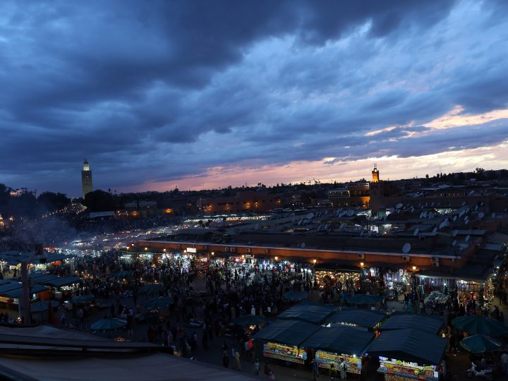 epa05620520 A general view of the landmark Jemaa el-Fnaa square in Marrakech, Morocco 2016. The UN Climate Change Conference COP22 will be held in Marrakech from 7 to 18 November.  EPA/MOHAMED MESSARA