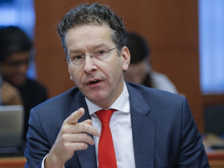 epa05660687 President of Eurogroup, Dutch finance minister Jeroen Dijsselbloem during Eurogroup finance ministers meeting in Brussels, Belgium, 05 December 2016. Eurogroup discuss member states' draft budgetary plans for 2017 and will be briefed by the institutions on the state of play of the Greek second review of the economic adjustment programme.  EPA/OLIVIER HOSLET