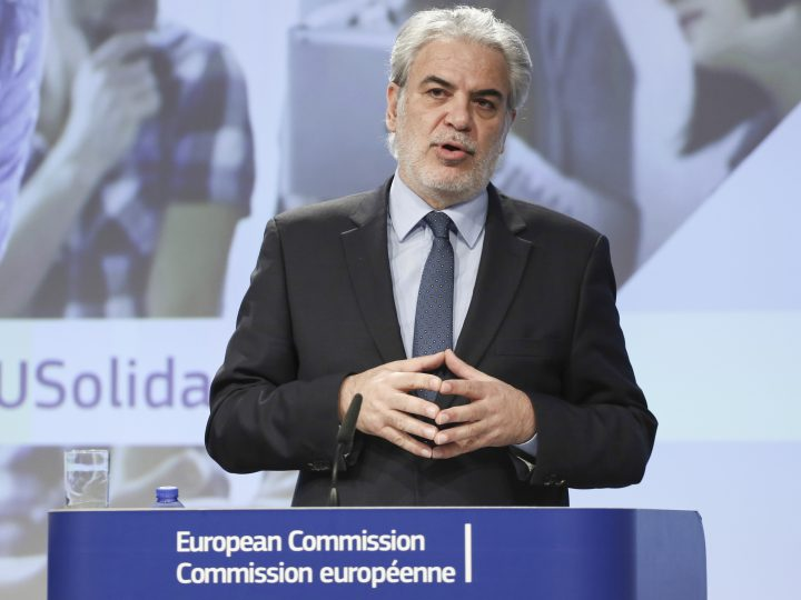 epa05663822 European Health Commissioner Christos Stylianides gives a press conference for the launch of the European Solidarity Corpsin Brussels, Belgium, 07 December 2016. The European Commission is launching the European Solidarity Corp, Young people between the ages of 18 and 30 will be able to volunteer. They will serve the needs of vulnerable communities, of national and local structures in a wide range of areas such as providing food, cleaning forests or helping with the integration of refugees.  EPA/ARIS OIKONOMOU
