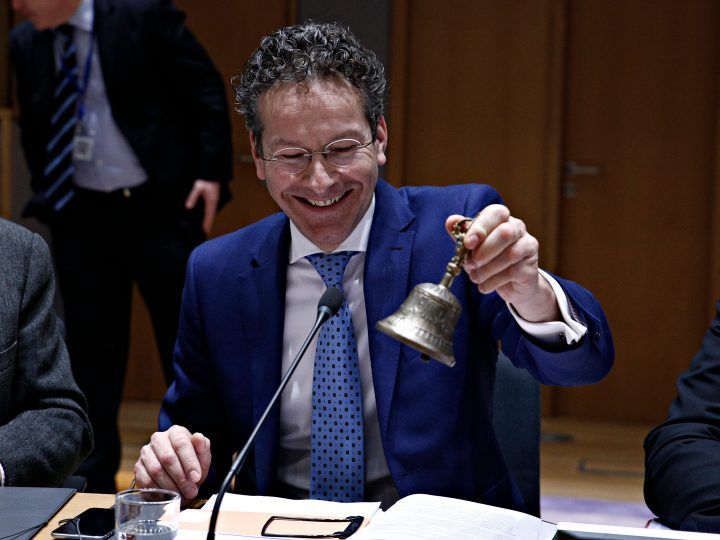 Eurogroup finance ministers meeting at the European Council in Brussels, Belgium on Feb. 20, 2017.