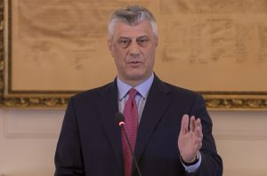 epa05837079 President of the Republic of Kosovo Hashim Thaci arrives for a press conference at his cabinet in Pristina, Kosovo 08 March 2017. Hashim Thaci backed up his decision he took on 07 March 2017 to submit to the Parliament the draft law on transforming the Kosovo Security Forces (KSF) into an Army. NATO Secretary General Jens Stoltenberg has released a statement saying that on 08 March 2017 he has spoken to Hashim Thaci to convey the serious concerns of NATO Allies about recent proposals by the Kosovo authorities to transform the Kosovo Security Force (KSF) into an armed force, without a constitutional change. However, should the mandate of the KSF now evolve in the way proposed, NATO will have to review its level of commitment, particularly in terms of capacity-building he said in the statement.  EPA/VALDRIN XHEMAJ