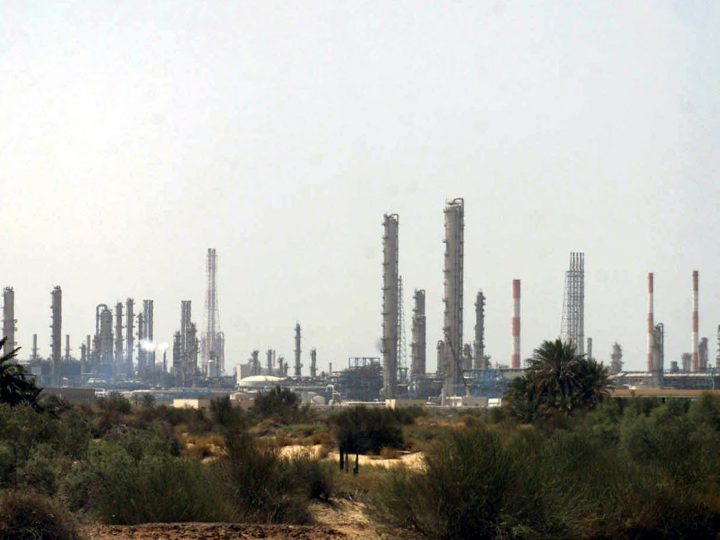 epa05262989 (FILE) A file picture dated 01 June 2004 shows a general view of a petroleum processing plant in the rich oil producing region of Jubail, eastern Saudi Arabia. At least 12 people died and 11 others were injured in a fire that broke out in a petrochemical products plant on 16 April 2016, in Jubail, according to a Royal Commission spokesperson. A total of 23 people were in the factory creating a lethal bottleneck effect with workers unable to exit the building. The 11 injured have symptoms of suffocation with six of them in critical condition at hospitals near the area including the Jubail Royal Commission Hospital.  EPA/STR