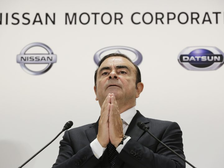 epa05809542 (FILE) - Carlos Ghosn, Chairman and Chief Executive Officer (CEO) of Nissan Motor Co., Ltd., gestures as he speaks during a news conference in Tokyo, Japan, 20 October 2016 (reissued 23 February 2017). Nissan Motor Co. announced on 23 February 2017, it named Hiroto Saikawa as new president and CEO, while Carlos Ghosn is to remain chairman of the company. The change is to be effective from 01 April.  EPA/KIMIMASA MAYAMA