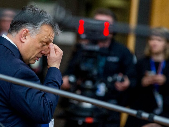epa05838737 Hungarian Prime Minister Viktor Orban arrives at the European spring summit in Brussels, Belgium, 09 March 2017. European leaders will mainly focus on election of the European Council President and on Brexit during the two-day summit.  EPA/STEPHANIE LECOCQ