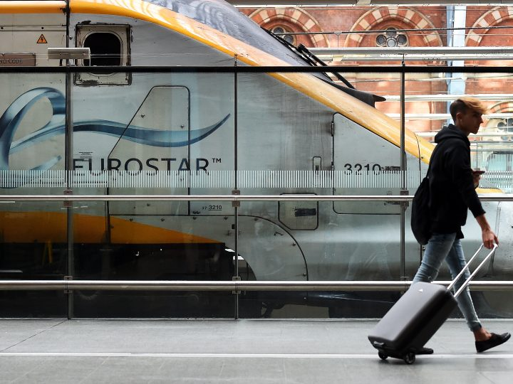 epa05853838 (FILE) - A file picture dated 10 August 2016 shows a passenger walking along a platform at the Eurostar terminal in London, Britain. Plans for a tunnel that connects mainland Europe and England date back to 19th century, but it was only in 1994 when the Channel Tunnel - the world's longest underwater tunnel - was opened and the Eurostar train service between London and the continent was established. The 60th anniversary of the signing of the Treaty of Rome is marked on 25 March 2017. The treaty was signed on 25 March 1957 by Belgium, France, Italy, Luxembourg, the Netherlands and West Germany to form the European Economic Community (ECC). It continues to be one of the most important ones in the history of the European Union (EU).  EPA/ANDY RAIN