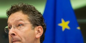 epa05861843 President of Eurogroup, Dutch Finance Minister, Jeroen Dijsselbloem during a hearing by European Parliament Committee on Economic and Monetary Affairs at the European Parliament in Brussels, Belgium, 21 March 2017.  EPA/STEPHANIE LECOCQ