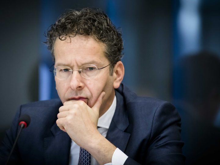 epa05878582 Dutch Minister for Finance and President of Eurogroup, Jeroen Dijsselbloem, during the general consultation on the Eurogroup in the Senate (Tweede Kamer) in The Hague, The Netherlands, 30 March 2017.  EPA/BART MAAT