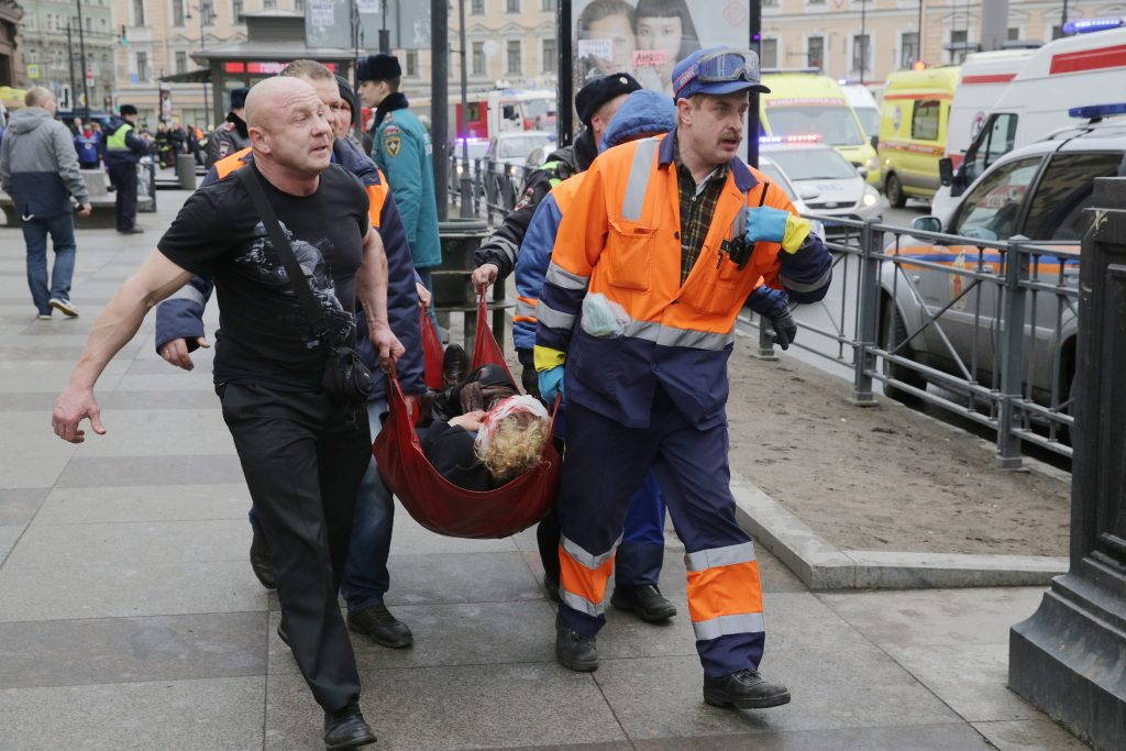 Petersburg, Russia, subway blast kills 10, injures 50