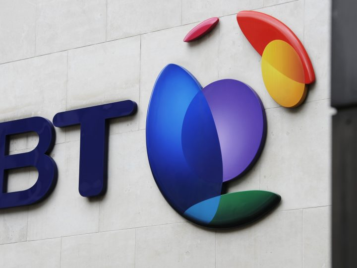 epa04604506 (FILE) A file photo dated 10 May 2013 showing a BT logo on the wall of one of the group's offices in central London. British Telecom on 05 February 2015 said it had agreed to buy mobile carrier EE for 12.5 billion pounds (19 billion dollars). Under the deal, which needs approval by BT's shareholders and Britain's telecom regulator, BT will grant shares to Deutsche Telekom and Orange, both part-owners of EE. Deutsche Telekom will hold a 12-per-cent stake in the expanded BT group, while Orange will own 4 per cent of the company. EE is Britain's leading mobile carrier, with Europe's highest number of 4G customers. It has 24.5 million mobile phone customers and 834,000 broadband customers. BT said its purchase of EE is expected to be completed by March 2016.  EPA/FACUNDO ARRIZABALAGA