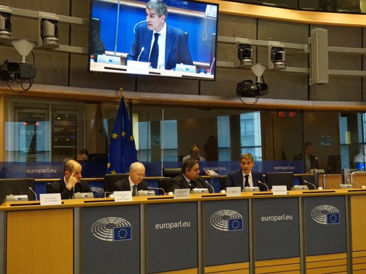 European Data Protection Supervisor Giovanni Buttarelli presents EDPS annual 2016 report at the European Parliament. 4 May 2017