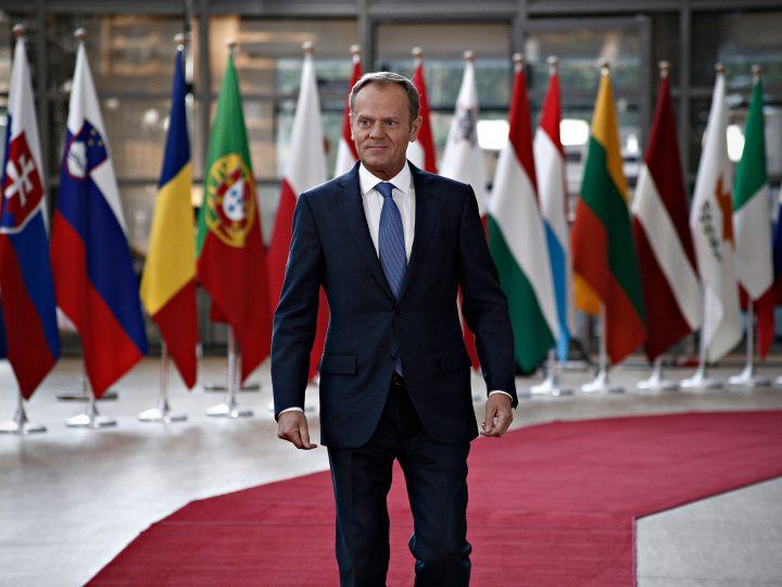 Special European Council (Art. 50) at the European Council in Brussels, Belgium on Apr. 29, 2017. The special European Council (Article 50), in an EU27 format,adop t the guidelines for the Brexit negotiations. New Europe / Alexandros Michailidis