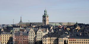 epa05014264 (FILE) A file photo dated 16 March 2013 showing the old town, 'Gamla Stan', in Stockholm, Sweden, with the German Church at center and the Royal Palace on background, as seen from Soedermalm suburb. Media reports 06 November 2015 state concerns of a possible housing bubble in Sweden are getting stronger following Sweden's central bank, Riksbank, recently deciding to keep interest rates at a record low -0.35 per cent. Low rates have fuelled demand for borrowing, leading to property prices climbing at a higher speed, especially in the Stockholm region. In the last 10 years, house prices in Sweden have doubled. In 2015, the house prices rise was at some 14 per cent, while prices for apartments have climbed even faster.  EPA/MAURITZ ANTIN