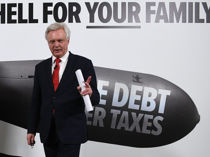epa05942452 David Davis, Britain's Secretary of State for Exiting the European Union, speaks to reporters during a campaign event in London, Britain, 03 May 2017. Voters go to the Polls in Britain on 08 June 2017 to elect a new Government.  EPA/FACUNDO ARRIZABALAGA