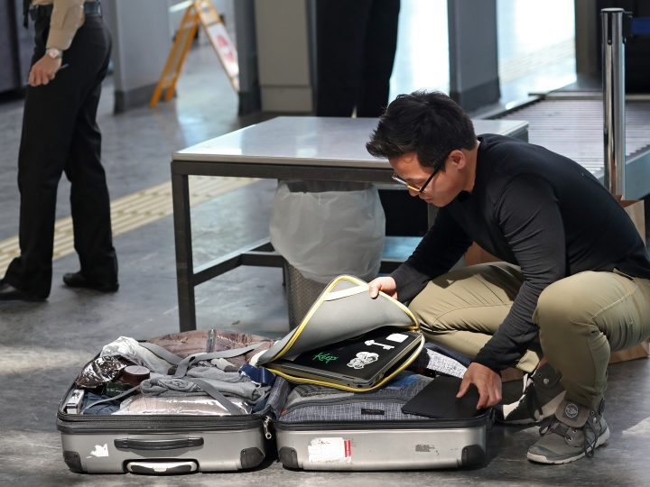 epa05997395 (FILE) - Passengers open their luggage and show their electronic equipment at security point at the Ataturk Airport, in Istanbul, Turkey, 22 March 2017 (reissued 29 May 2017). According to reports from 29 May 2017, US Homeland authorities are considering to expand a general laptop ban on all international flights to and from the USA.  EPA/SEDAT SUNA