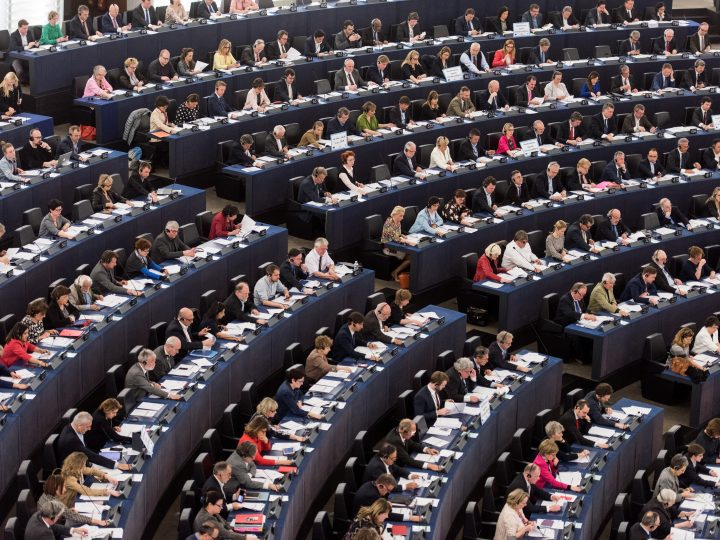 epa05889641 An elevated view of the European Parliament in Strasbourg, France, 05 April 2017. The parliament is holding a key debate on Brexit negotiations.  EPA/PATRICK SEEGER