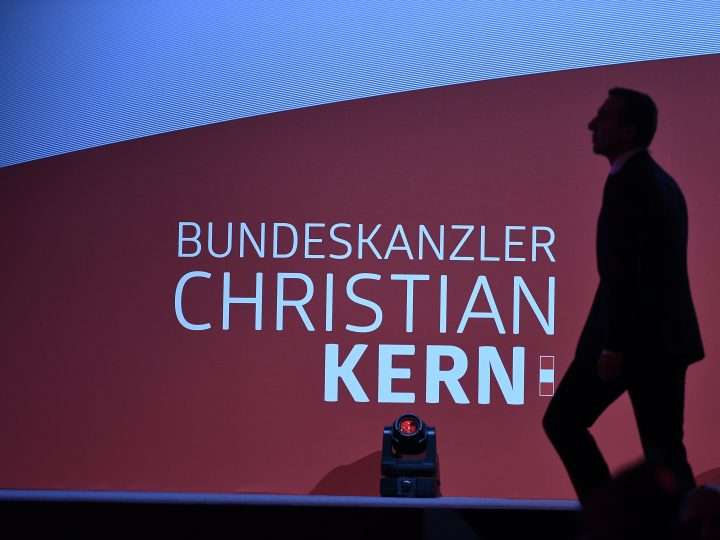 epa06190492 Austrian Chancellor and head of the Social Democratic Party (SPOe) Christian Kern arrive for a speech during the kick off of the SPOe's campaign for the Austrian federal elections, in Graz, Austria, 07 September 2017. The Austrian federal elections will take place on 15 October 2017.  EPA-EFE/CHRISTIAN BRUNA