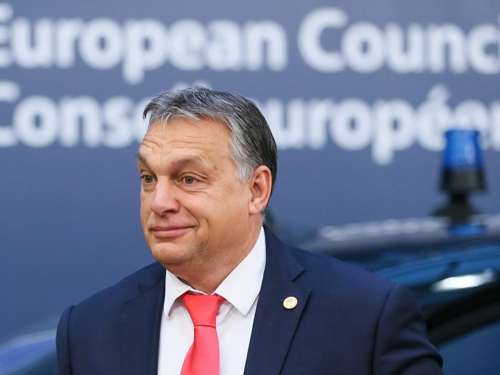 epa06390760 Hungarian Prime Minister Viktor Orban arrives on the second day of the European Council meeting in Brussels, Belgium, 15 December 2017. EU leaders gather to discuss the most compelling matters in terms of migration, defense foreign affairs, education, culture, social issues and 'Brexit' negotiations.  EPA-EFE/STEPHANIE LECOCQ