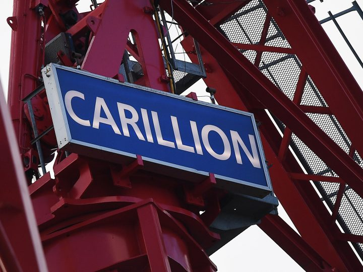 epa06443371 A Carillion crane stands at a construction site in London, Britain, 16 January 2018. Thousands of jobs in the UK and abroad maybe lost following the news that Construction company Carillion is to go into liquidation. Talks between lenders and the UK government has failed to reach a deal.  EPA-EFE/ANDY RAIN