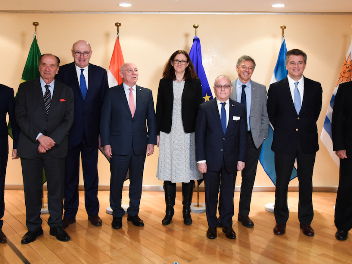 Cecilia Malmström, Member of the EC in charge of Trade, and Phil Hogan, Member of the EC in charge of Agriculture and Rural Development, participate in the Mercosur Ministerial meeting.