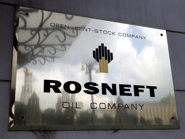 epa06052725 (FILE) The logo of the 'Rosneft' petroleum company on the wall of its headquarters in Moscow, Russia, 17 July 2014 (reissued 27 June 2017). According to media reports on 27 June 2017, Rosneft was affected by a large-scale cyber attack on 27 June 2017.  EPA/YURI KOCHETKOV