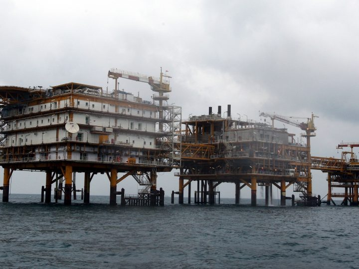 epa06063160 (FILE) - A general view of the Iranian South Pars quarter one (SPQ1) gas platform in the Persian gulf waters on the edge of the Qatar territorial waters, near the southern Iranian port of Assalouyeh, Iran, 26 January 2011 (reissued 03 July 2017). French energy company Total and Iran will sign a contract on 03 July 2017 over the development of South Pars Phase 11  EPA/ABEDIN TAHERKENAREH
