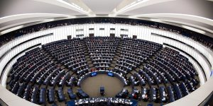epa06443409 A general view of the European Parliament during in a voting on a new fishing law in the EU at the European Parliament in Strasbourg, France, 16 January 2018. The new law would provide common measures on fishing gear and methods and regulate which specied would be allowed to be caught for all EU waters.  EPA-EFE/PATRICK SEEGER