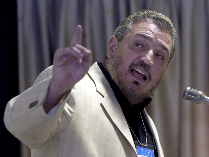 epa00927475 Fidel Castro Diaz-Balart, the oldest son of Cuban leader Fidel Castro, talks on  Friday 09 February 2007, during the Conference of International Economists on Globalization and Problems of Development in Havana (Cuba).  EPA/-