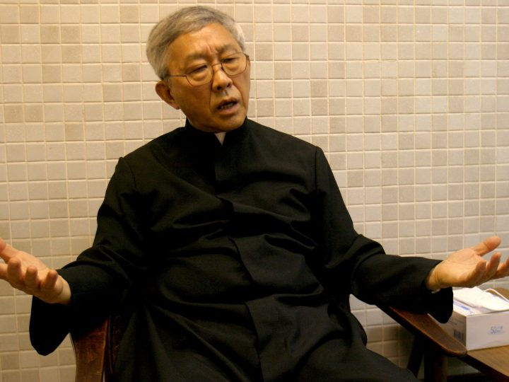 HKG01 20030404 HONG KONG , CHIINA : Bishop Zen talks about his concerns of article 23 . Bishop Zen will raise Article 23 with the Vatician  But he has privately admitted the last-chance effort will not stop the law .                                               The head of the Catholic Church in Hong Kong will raise concerns over the proposed national  security laws with senior officials in the Vatican when he visits Rome on a business trip early next month .  But Bishop Joseph Zen Ze-kiun is not optimistic that any concrete results will emerge from his  meeting with leading clerics in the Holy See . The bishop has voiced his criticism of the anti-subversion bill, which he fears will undermine freedom and civil liberties in Hong Kong . He also is concerned that it will harm the   church's links with Catholics on the mainland, where those who acknowledge the Pope's authority have been driven underground.