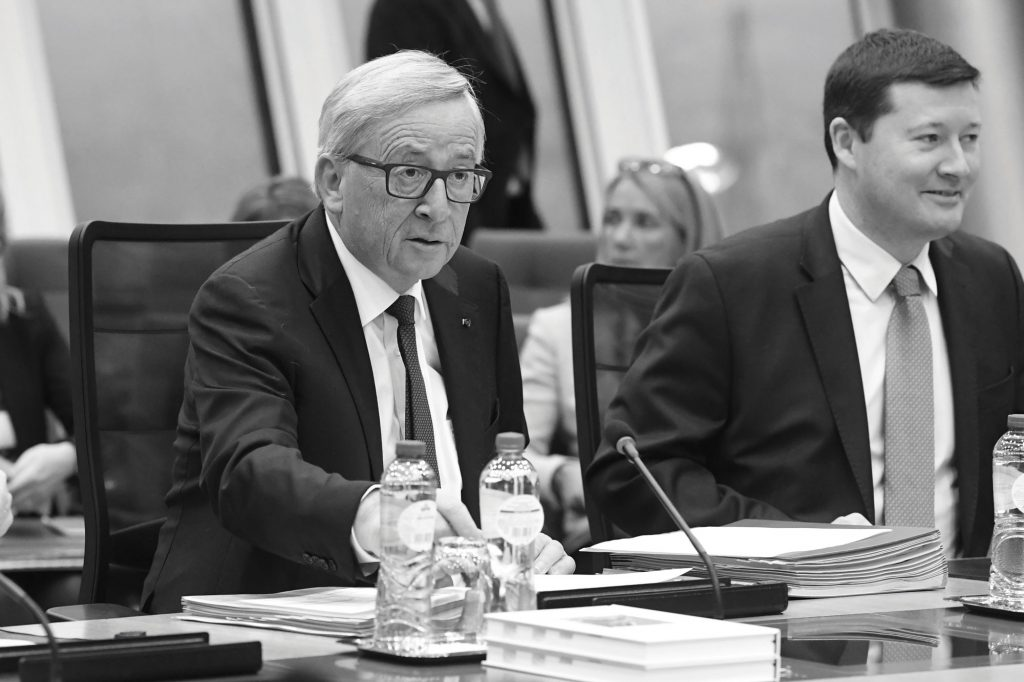 Jean-Claude Juncker, President of the European Commission, on the left, and Martin Selmayr, his Head of Cabinet.