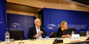 Udo Bullmann gives a press conference at the European Parliament, Brussels, 21 Mar. 2018