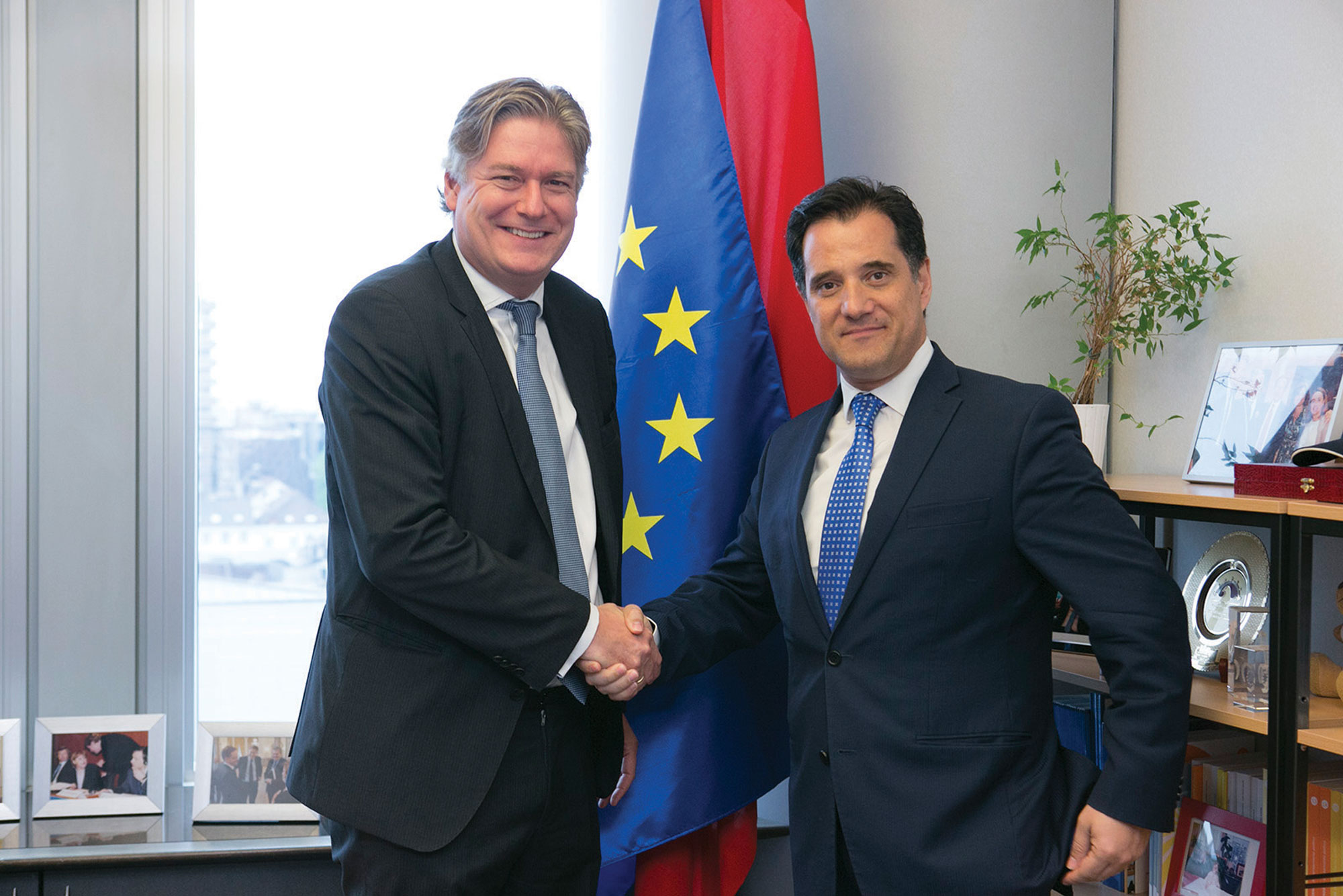 EPP Secretary General, Antonio López-Istúriz White (L) with Adonis Georgiadis