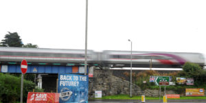 epa06154741 A train travelling to Belfast, Northern Ireland from Dublin, Republic of Ireland, passing through Newry in Northern Ireland, Britain, 21 August 2017 near the border with The Republic of Ireland. Britain?s decision to leave the EU means that the currently open border is a problem that the politicians are trying to resolve following Brexit in 2019.  EPA/AIDAN CRAWLEY