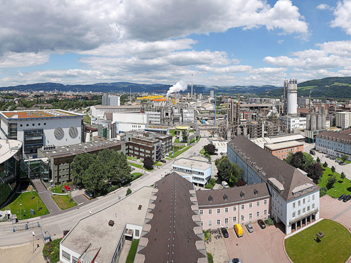 Innovation Headquarters, Linz, innotech, R&D, Borealis Location Linz,  Airview Linz, aerial view, IHQ
