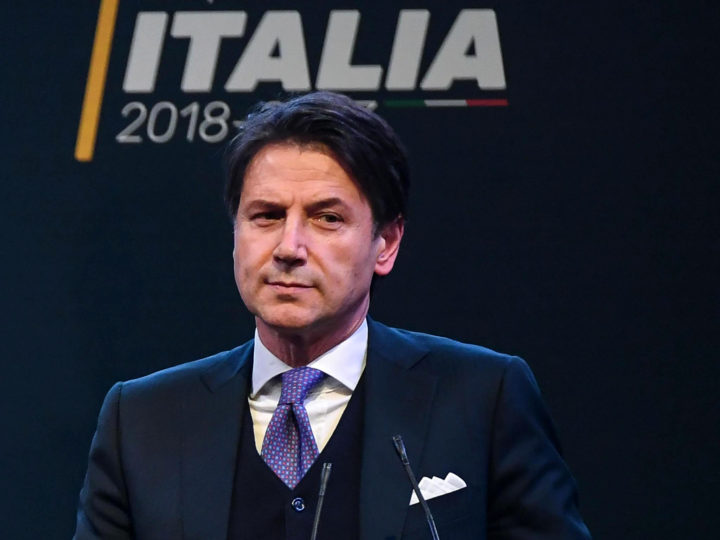 epa06754471 (FILE) - 5-Star Movement candidate for the Public Administration Minister Giuseppe Conte in case of victory in the general elections during an election event in Rome, Italy, 01 March 2018 (reissued 21 May 2018). Right-wing populist Lega and the Five Star Movement (M5S) proposed Giuseppe Conte proposed as Prime Minister for Italy, M5S leader announced 21 May 2018. General elections in Italy were held on 04 March 2018.