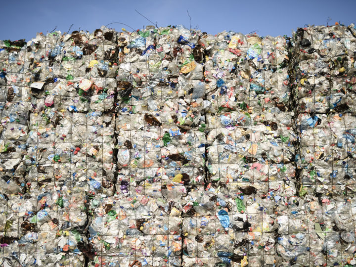 epa06768428 (FILE) - Plastic waste seen at the ALBA Group recycling plant in Berlin, Germany, 15 August 2017 (reissued 28 May 2018). A ruling on 30 July from the appellate division upheld an earlier ruling from New York State Supreme Court that had struck down New York Mayor Michael Bloomberg's 16-ounce limit on sodas and sweet drinks. The EU Commission presented its Plastics Strategy on 28 May 2018 to ban single-use products, like plastic utensils, straws, coffee stirrers and cotton swabs, in the fight against plastic waste which is a main source of environmental pollution because they are used only once, hard to collect for recycling and can kill animals, fish and sea turtles when they swallow plastic straw.  EPA-EFE/CLEMENS BILAN