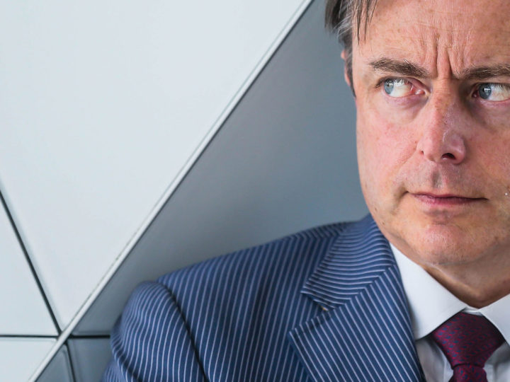 President of the Flemish nationalist party N-VA and Antwerp mayor, Bart De Wever. EPA-EFE/STEPHANIE LECOCQ