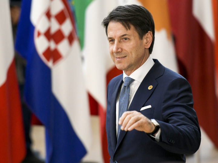epa06847605 Italian Prime Minister Giuseppe Conte arrives for an European Council summit in Brussels, Belgium, 28 June 2018. EU countries' leaders meet on 28 and 29 June for a summit to discuss migration in general, the installation of asylum-seeker processing centers in northern Africa, and other security- and economy-related topics including Brexit.  EPA-EFE/NICOLAS LAMBERT