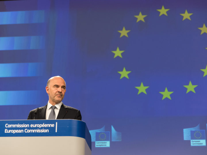 Valdis Dombrovskis and Pierre Moscovici
