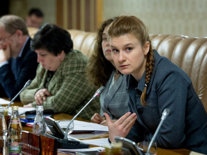 epa06897774 An undated handout picture made available by the Press Service of the Civic Chamber of the Russian Federation on chamber's official website shows Maria Butina (R)  attending a meeting of expert group at the Russian Government in Moscow, Russia. Russian citizen Maria Butina, 29, was arrested in the United States on suspicion of being engaged in conspiracy against the U.S. and acting as an unregistered Russian agent.  EPA-EFE/Press Service of Civic Chamber of the Russian Federation/HANDOUT  HANDOUT EDITORIAL USE ONLY/NO SALES