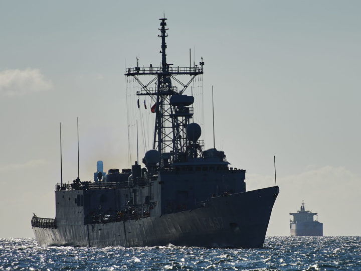 epa04782378 The Turkish Navy frigate TCG Goksu arrives to the port of Gdynia, in Gdynia, Poland, 04 June 2015. Forty-nine ships from 15 countries will take part in NATO's Baltops exercise to be launched in the Polish seaport of Gdynia on 06 June. With nine ships taking part in the exercise, Poland will offer the biggest number of vessels.  EPA/ADAM WAROAWA POLAND OUT