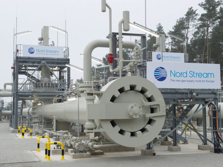 epa06031689 (FILE) - The logo of the company Nord Stream is fixed to the landing station of the Baltic Sea pipeline Nord Stream in Lubmin near Greifswald, Germany, 08 November 2011, (reissued 16 June 2017). Media reports on 16 June 2017 state that German and Austrian companies who are investing in the Russia Nord Stream 2 pipeline to the EU are going to be hit hard if the US bill extending sanctions Russia?s aggression in Ukraine goes into law. German Foreign Minister Sigmar Gabriel and Austrian Chancellor Christian Kern in a joint statement said, Europe's energy supplies were 'a matter for Europe, not for the United States.'  EPA/STEFAN SAUER  GERMANY OUT