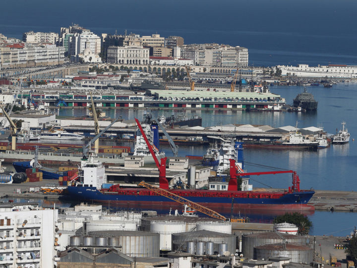 epa06350651 A general view of the commercial port of Algiers, Algeria, 24 November 2017 (issued 25 November 2017). According to reports, the National Liberation Front (FLN) of President Abdelaziz Bouteflika was at the lead after securing 603 seats at the People's Municipal Assemblies and 711 seats at the People's Provincial Assemblies in the elections carried out on 23 November. According to reports, Algerian authorities decided to reduce import due to shrinking of hard currency reserves.  EPA-EFE/MOHAMED MESSARA