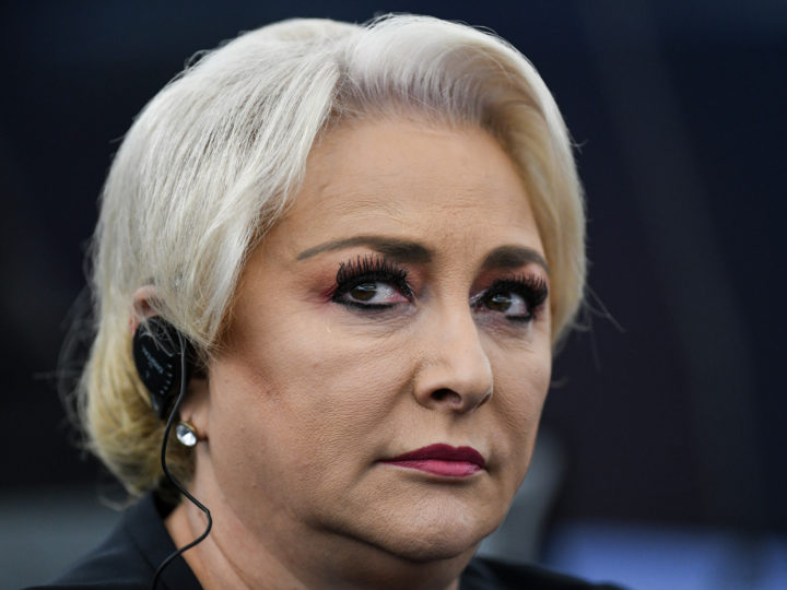 epa07065697 Romanian Prime Minister Viorica Dancila listens to a speech during the debate about the latest judicial reforms in Romania and their impact on the separation of powers, at the European Parliament in Strasbourg, France, 03 October 2018.  EPA-EFE/PATRICK SEEGER